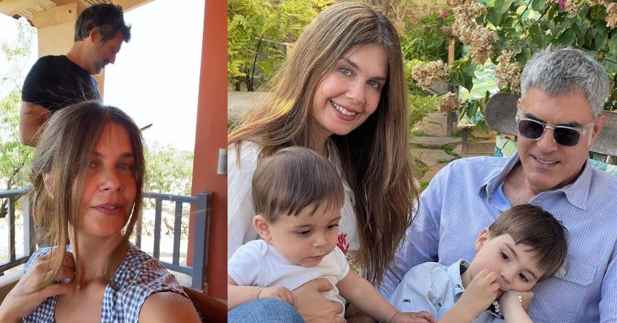 Κατερίνα Μουτσάτσου: Ήρθε από την Αμερική και βάφτισε τον γιο της στην Αίγινα – Το εντυπωσιακό φόρεμα [φωτο]