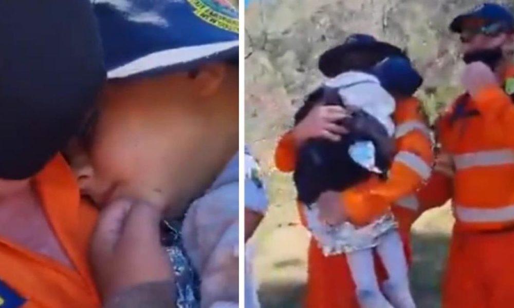 Μητέρα αγκαλιάζει ξανά το 3 ετών παιδάκι της που ήταν τρεις ημέρες εξαφανισμένο