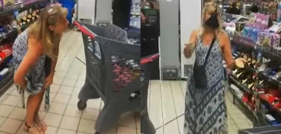 Γυναίκα έβγαλε το βρακί της σε σούπερ μάρκετ και το φόρεσε για μάσκα